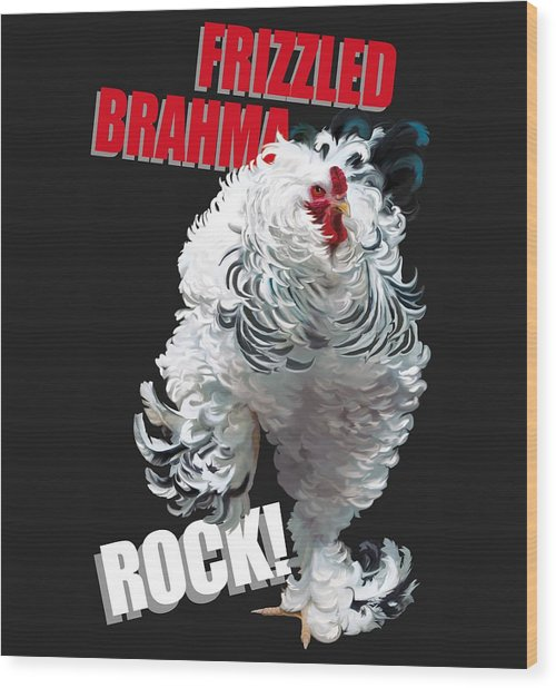 Frizzled Brahma T-shirt Print Wood Print