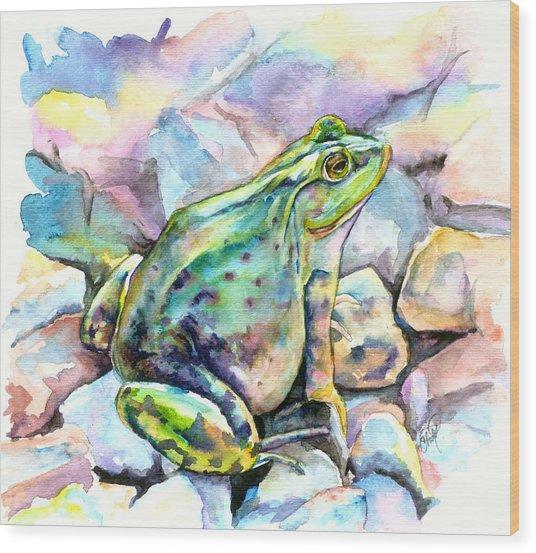 Frog Wood Print by Christy Freeman Stark