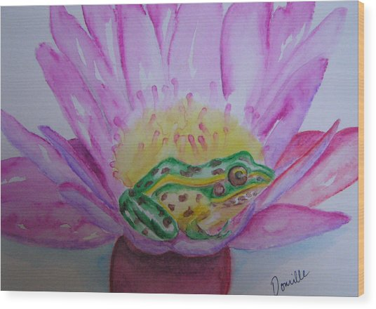 Frog Wood Print by Donielle Boal