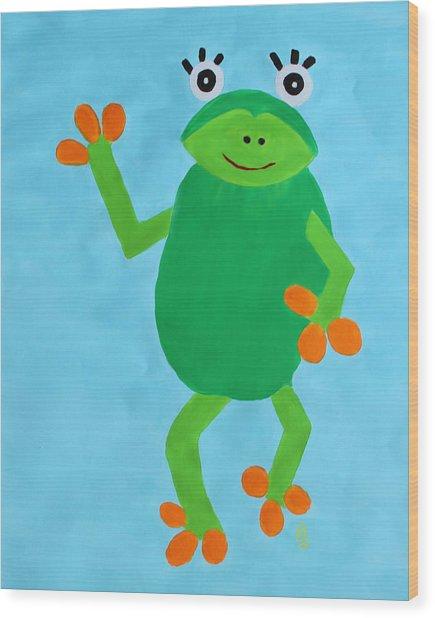 Froggie Wood Print