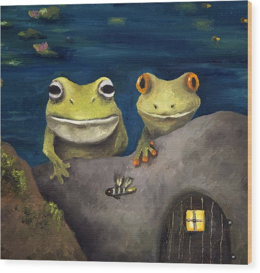 Frogland Detail Wood Print