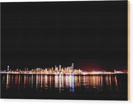 From Alki -wide Wood Print