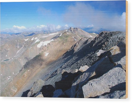 From Atop Mount Massive Wood Print