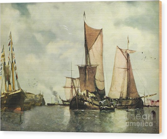 From Sail To Steam - Transitions Wood Print