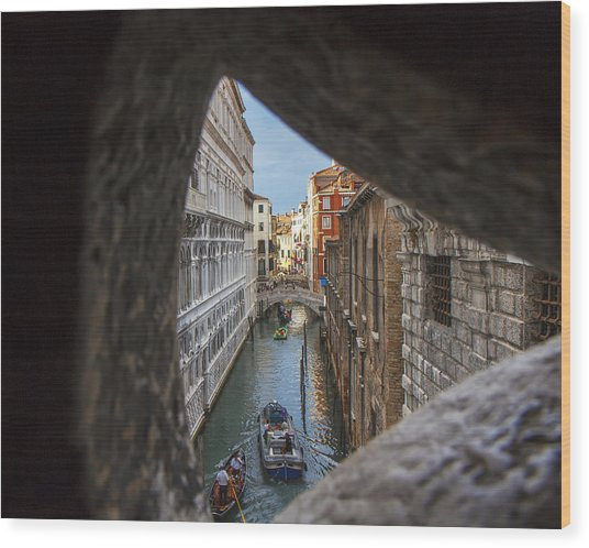 From The Bridge Of Sighs Venice Italy Wood Print by Rick Starbuck