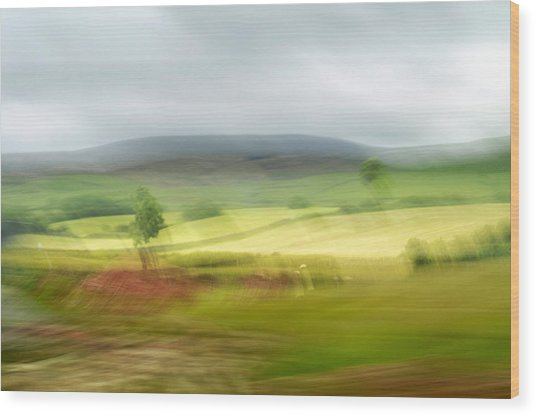 heading north of Yorkshire to Lake District - UK 1 Wood Print
