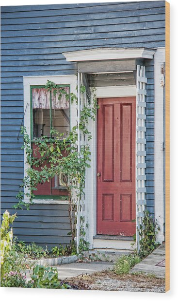 Front Door Three Wood Print by Suzanne Bauer Photography