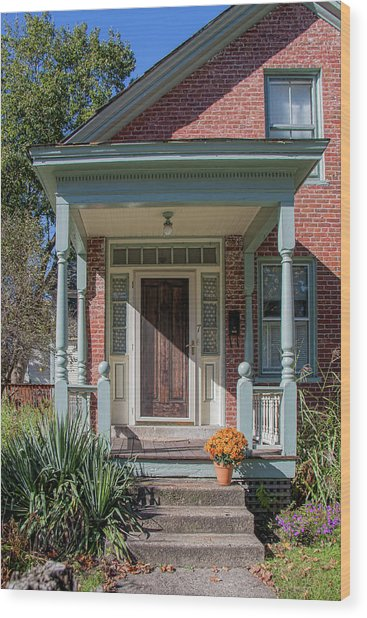 Front Door Two Wood Print by Suzanne Bauer Photography