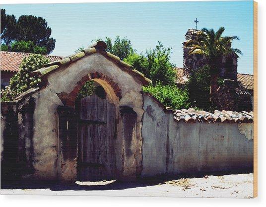Front Gate -mission San Miguel Wood Print