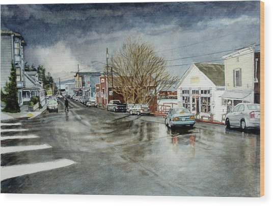 Front Wood Print by Perry Woodfin