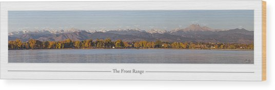 Front Range With Peak Labels Wood Print