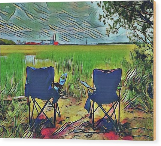 Front Row Seat Wood Print