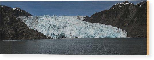 Frontier Glacier Wood Print