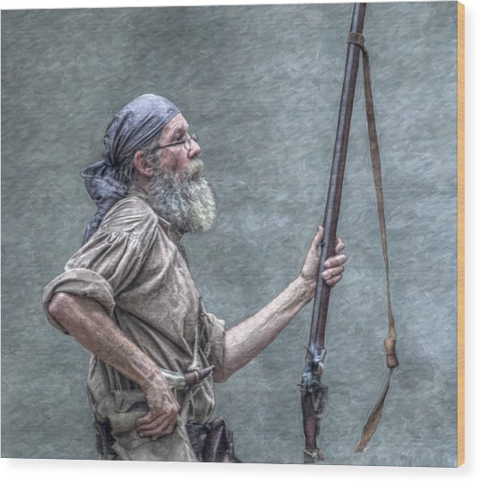 Frontiersman Face Of Time Wood Print