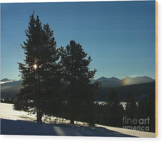 Frostbow Wood Print