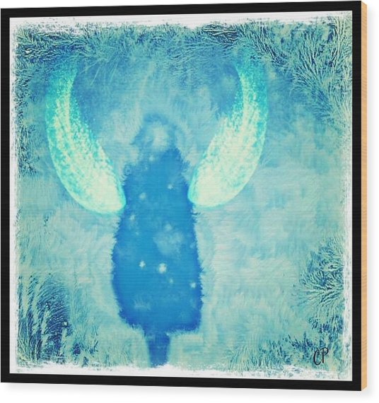 Frosted Angel Wood Print