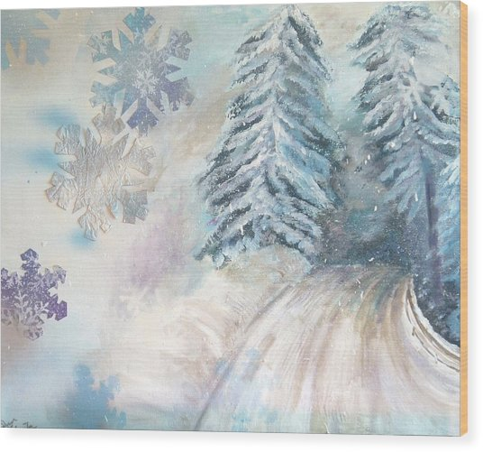 Frosted Secrets Of Winter Wood Print
