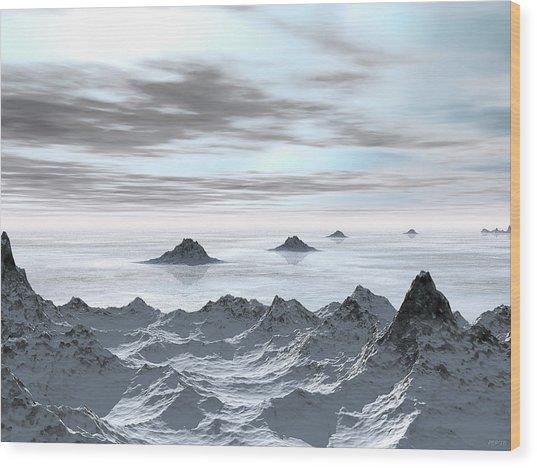 Frozen Arctic Sea Wood Print