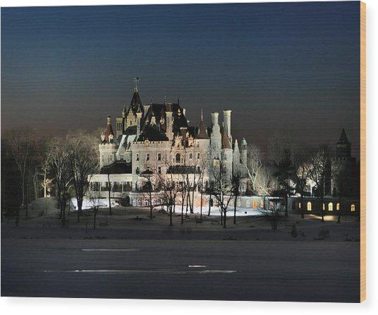 Frozen Boldt Castle Wood Print