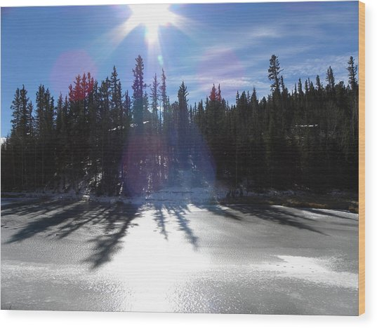 Sun Reflecting Kiddie Pond Divide Co Wood Print