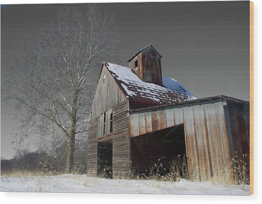 Frozen Letcher Wood Print