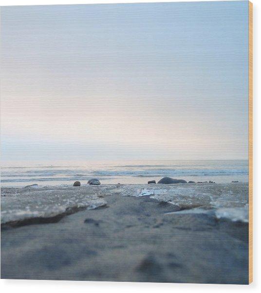 Frozen Sands Wood Print