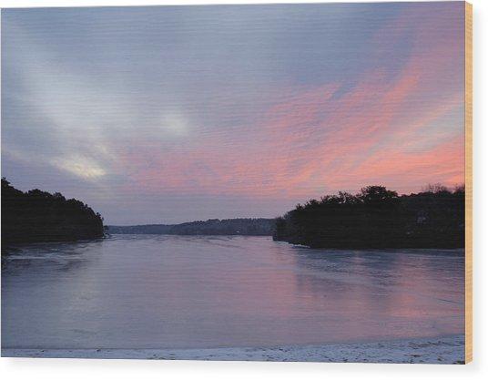 Frozen Sunrise Wood Print by Mimi Katz