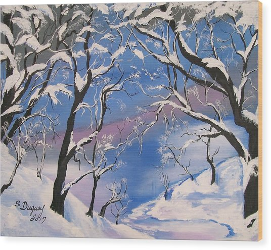 Frozen Tranquility  Wood Print