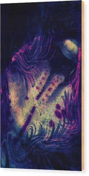 Frozen Violet Wood Print