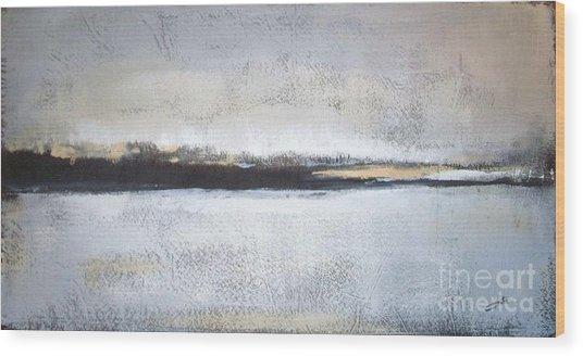 Frozen Winter Lake Wood Print