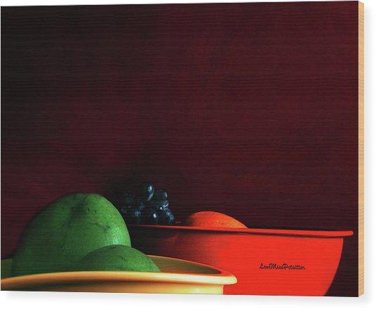 Fruit Art Photograph Wood Print