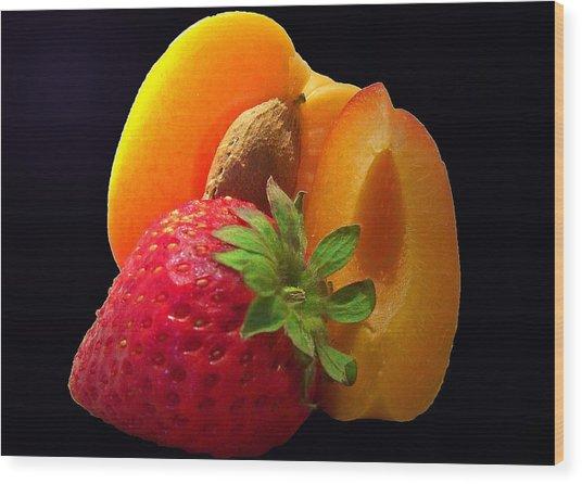 Fruit Display Wood Print by Amanda Vouglas