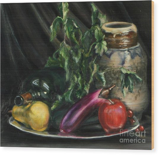 Fruit Wood Print by Lori McCray