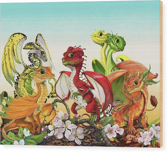 Fruit Medley Dragons Wood Print