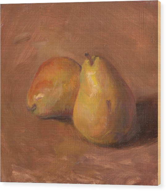 Fruit Of The Spirit- Pear 1 Wood Print by Timothy Chambers
