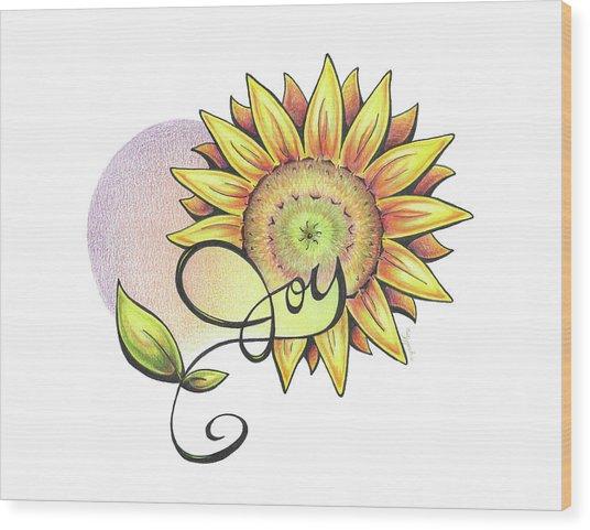 Fruit Of The Spirit Series 2 Joy Wood Print