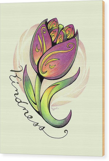 Fruit Of The Spirit Series 2 Kindness Wood Print