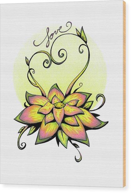Fruit Of The Spirit Series 2 Love Wood Print