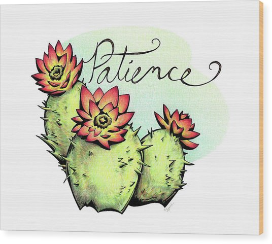 Fruit Of The Spirit Series 2 Patience Wood Print
