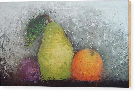 Fruit Wood Print by Paula Weber
