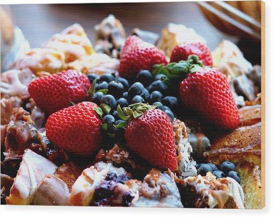 Fruit Snack Wood Print by Karen Scovill