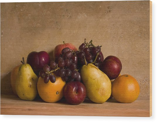 Fruit Still Life Wood Print
