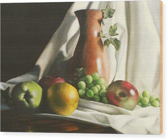 Fruit Still Life Wood Print by Lori Keilwitz