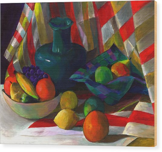 Fruit Still Life Wood Print by Peter Shor