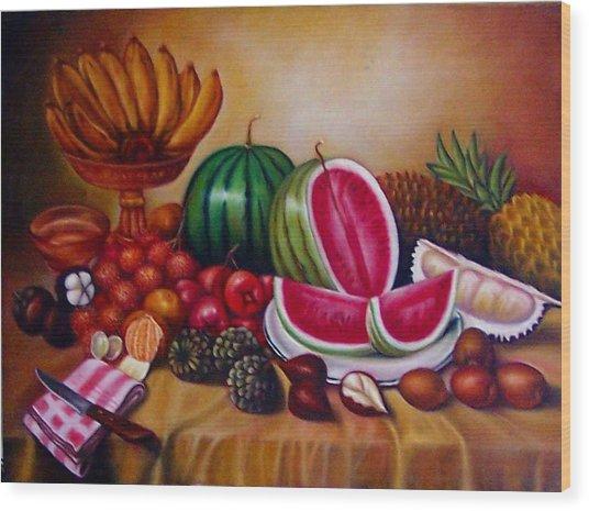 Fruits Wood Print by Yuki Othsuka