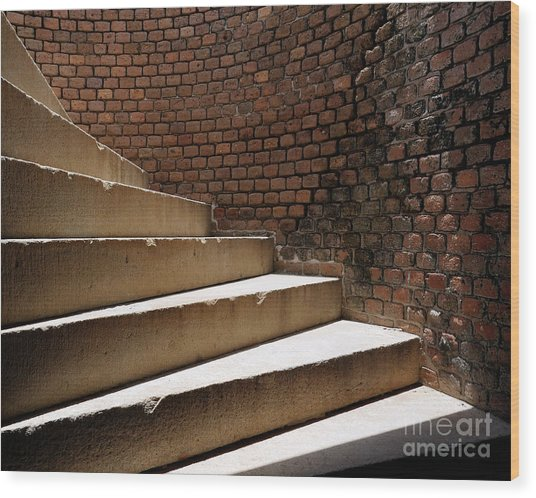 Ft. Taylor Stairs Wood Print