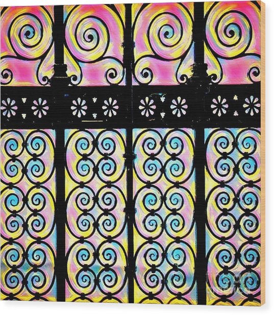 Fuchsia Gate  Wood Print