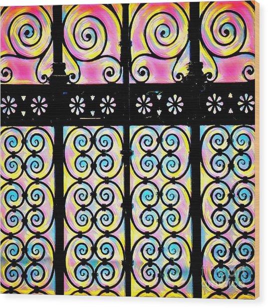 Fuchsia Gate  Wood Print