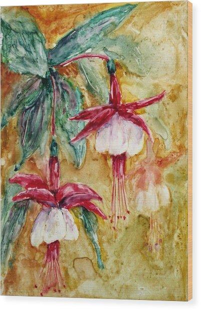 Fuchsia Wood Print