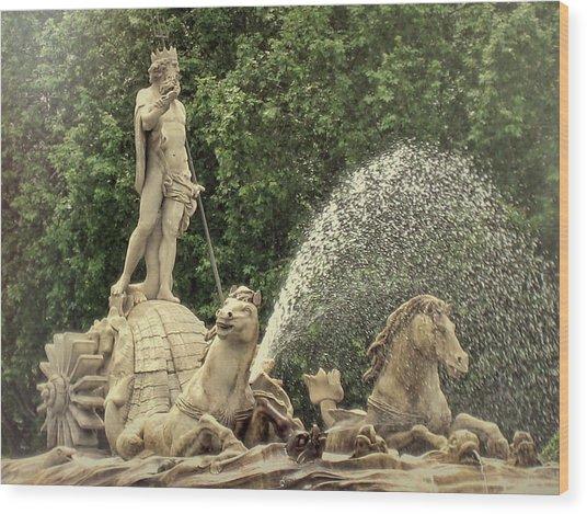 Fuente De Neptuno Wood Print by JAMART Photography
